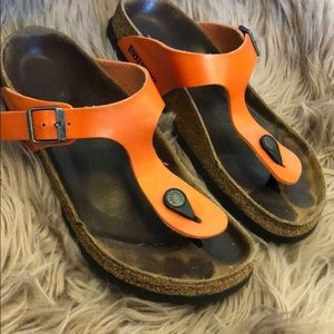Birkenstock Shoes - Birkenstock Gizeh Orange